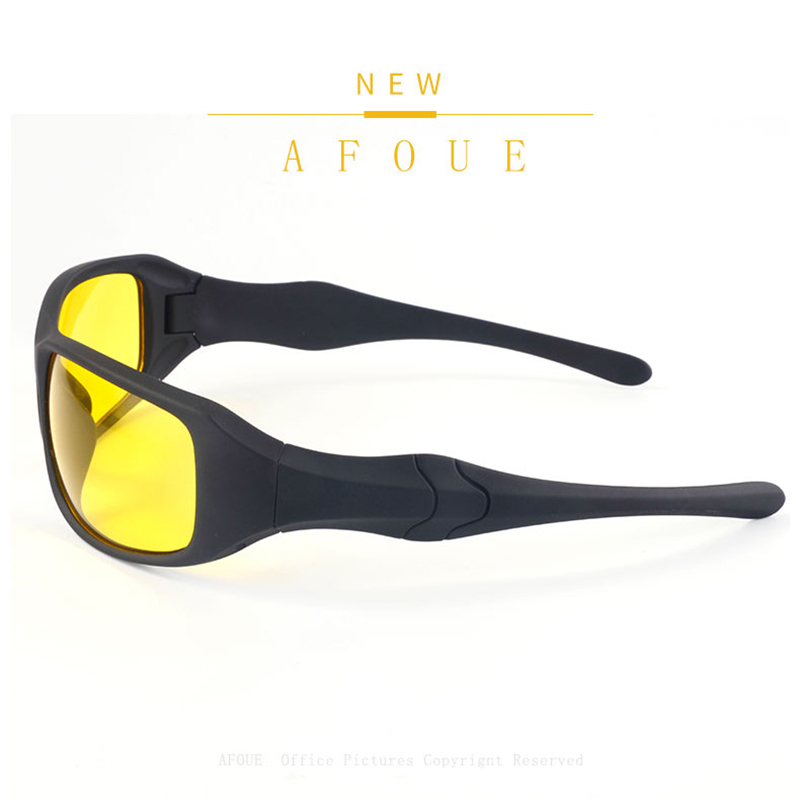 AFOUE 2017 Fashion Style Mens Day Night Driving Sunglasses Men Brand Designer Yellow Lens Night Vision Driving Glasses Goggles