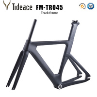 China Carbon Track Frame Carbon Fiber Fixed Gear bike frame Carbon Racing Tracking bike Frameset 49/51/54cm with fork seatpost
