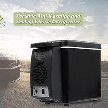 6L автомобильный холодильник с морозильной камерой два типа Электрический охладитель нагреватель для Путешествий, Походов, Кемпинга, наружного двойного использования, автомобильный холодильник