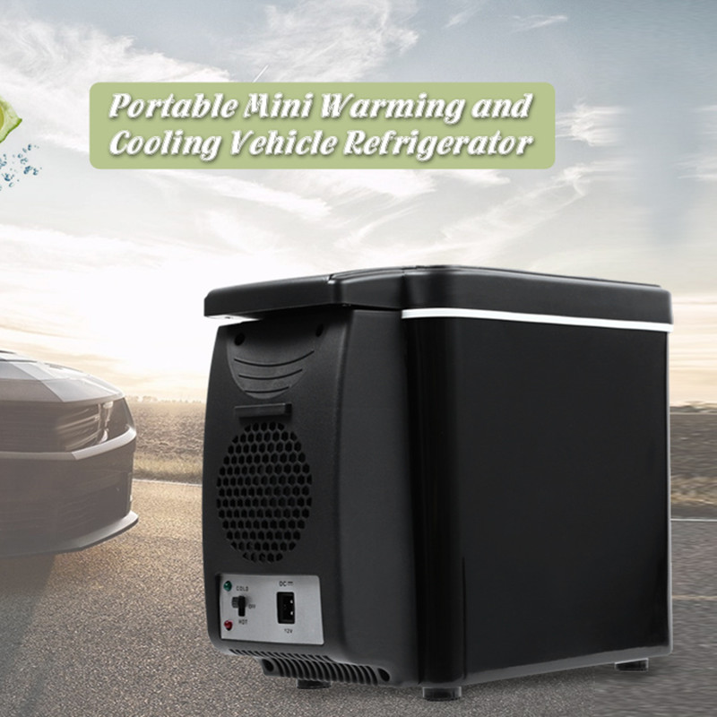 Car Refrigerator 6L Freezer Two Type Electrical Cooler Heater For Travel Hiking Camping Outdoor Dual-use Icebox Auto Fridge