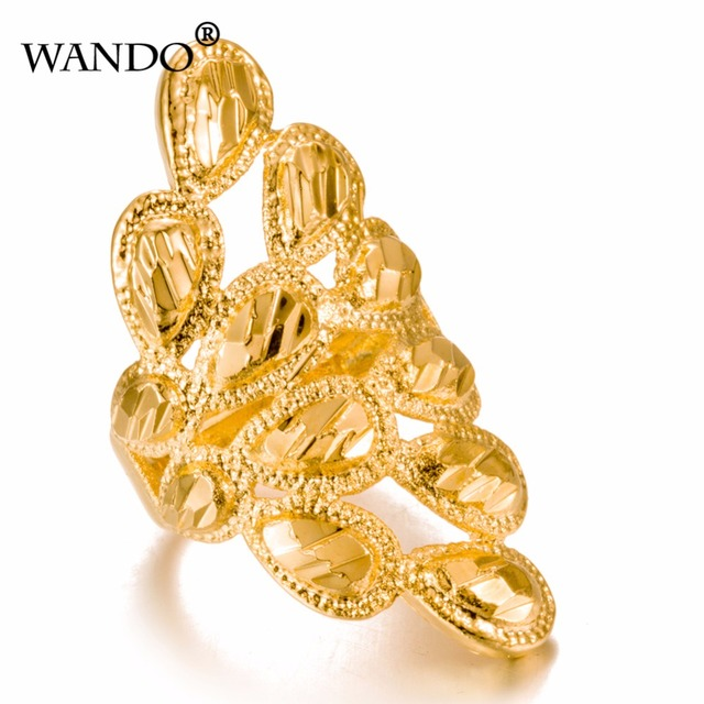 WANDO Jewelry Can Free size Gold Color Fashion Ring for Women/Madam Arab Ethiopi