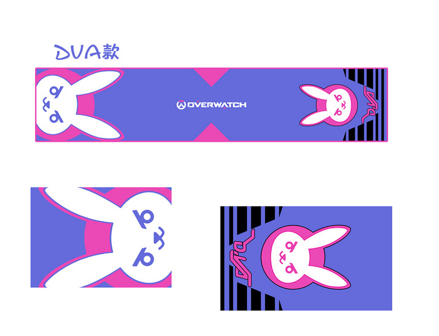 Cute Cosplay Accessories OW D.va Scarf 2018 New Arrival Cartoon Anime Shawl 1