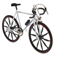 1/10 Scale Simulation Alloy Diecast Racing Exquisite Bike Sport Bicycle Model Hobbies Games Toy Collections White