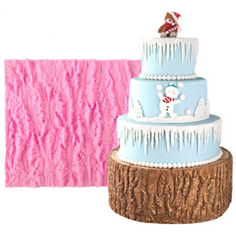 Cake Decorating Chocolate Bark : Bark Silicone Fondant Molds Cake Decorating Tools ...