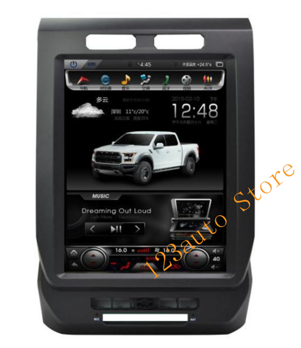 Krando Android 60 121 Tesla Vertical Touch Screen Car Dvd Gps For 2014 Ford F 150 Navigation Radio Style Auto No Player