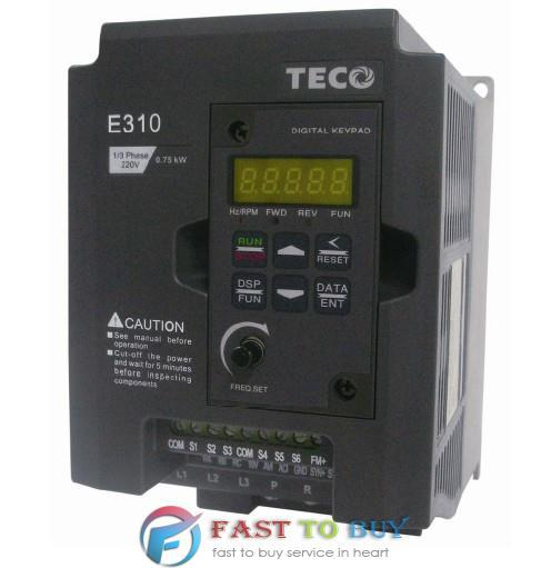 NEW Original TECO Inverter E310 Series E310-201-H 1HP 750W 1/3 Phase 200~240V 50/60 Hz 1Y Warranty teco drive inverter n310 4008 s3x 7 5hp 5500w 3 phase 380v 480v hot selling