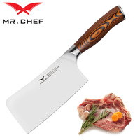 Professional 160mm Kitchen Cleaver Chef Knife Germany Steel X50CRMOV15 Mirror Craft For Cutting Vegetable And Meat