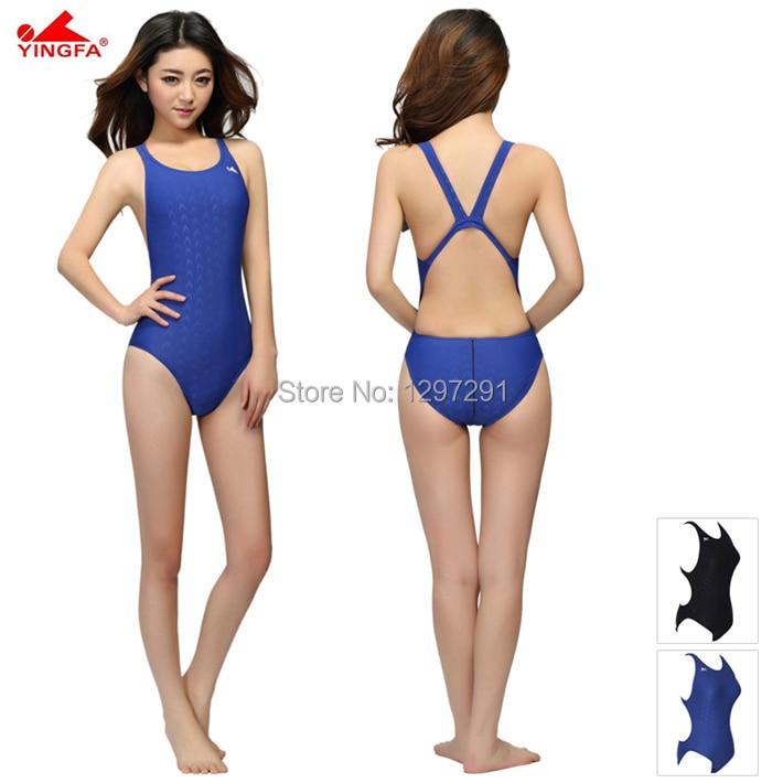 Yingfa fina goedgekeurd een stuk training concurrentie badmode vrouwen waterdichte sharkskin meisje badmode plus size badpakken