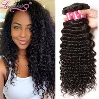 Longqi Hair Mixed Length 3pcs/lot 7A Peruvian Virgin Hair Extension Peruvian Deep Wave Human Hair Weave Machine Weft