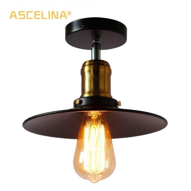 תעשייתי תקרת תאורת תקרת בציר רטרו אורות תקרת מנורת בית תאורה סלון חדר אוכל חדר שינה תאורה
