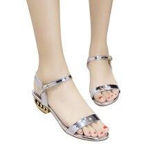 8fb5a30546a 2018 Summer Women Sandals Open Toe Flip Flops Women Big Size Shoes Thick  Heel Women Shoes Korean Style Gladiator Shoes