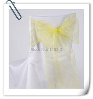 Factory Price Many Colors 200pcs Organza Chair Sashes For Wedding Banquet Birthday Marious