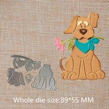 Cute cartoon dog Metal Cutting Dies Practice Hands-on DIY Scrapbooking Album Craft dies photo album 89*55 mm