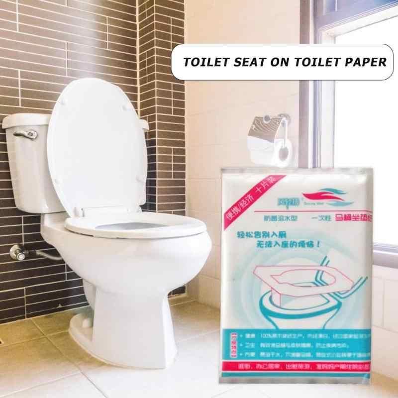 Papel Higiênico descartável Tampa de Assento Do Vaso Sanitário Do Banheiro de Segurança Portátil Almofadas 10 pcs
