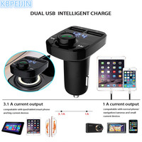Bluetooth Car Kit FM Transmitter Handfree Dual USB Car Charger styling for SEAT leon ibiza altea alhambra accessories