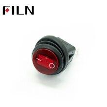 KCD1-101, водонепроницаемая, герметичная, красная, желтая, синяя, Зеленая лампа, 220 В, 12 В, 24 В, 110 В, 6 в, светодиодная лампа, вкл. Выкл., круглый Кулисный переключатель