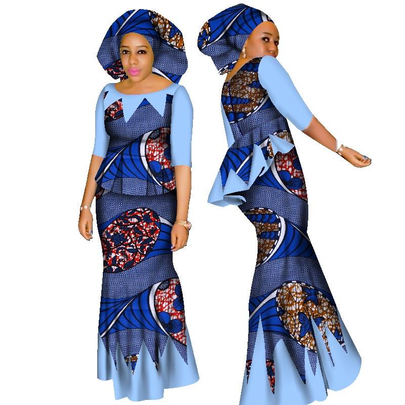 Hight Quarlity 2019 Afrikë për Femra Afrikë Set Dashiki Pambuku - Veshje për femra - Foto 5