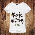 Free Shipping New 2016 Fashion Rock & Roll Women T-shirt Rock Star  Punk T shirt Spring Summer Tops For Female Clothing Hot Sale