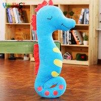 YunNasi 1.4m Sea Horse Pregnant Woman Pillow Stuffed Animal Horse Plush Toys For Girls Birthday Gifts Toys Soft Cushion Kid