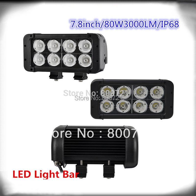 ФОТО double rows 10w led chips 8inch 80W off road led light bar