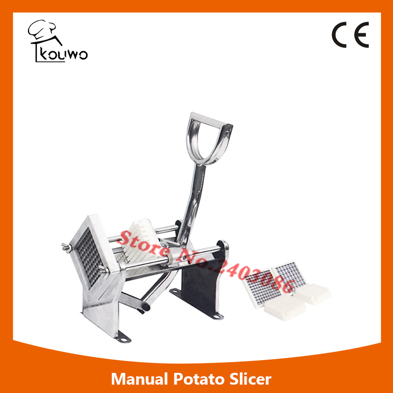 Potato Slicer French Fry Vegetable Fruit Cutter Chopper Apple Slices Chips Stainless Steel with 3 Blades for Commercial Home pfzc k31 stainless steel silence sound 31 slices bread slicer for commercial use