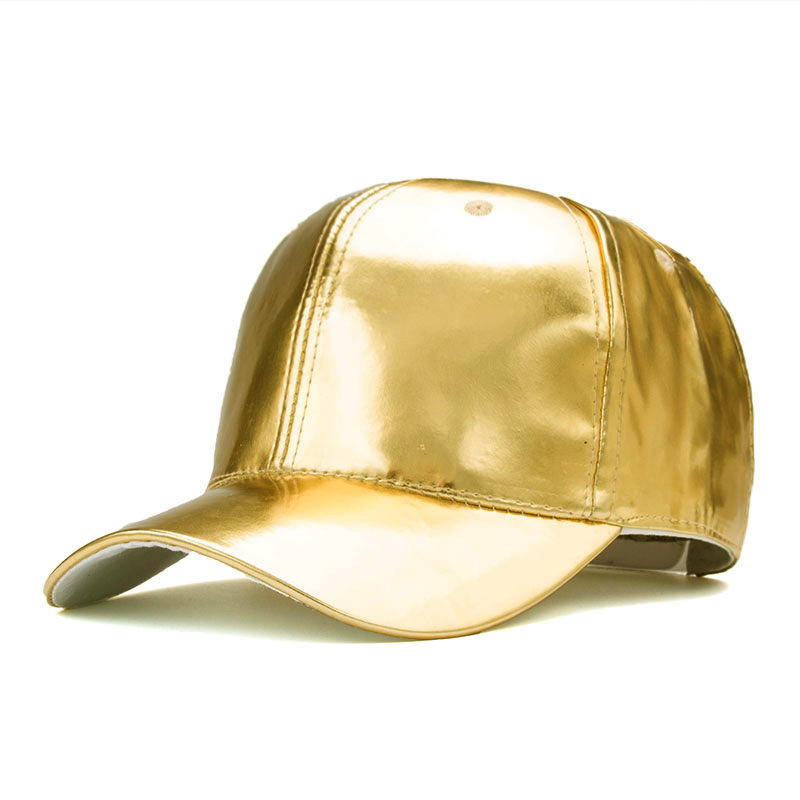 New Trendy Fashion Unisex Man Woman Gold Silver Champagne Sparkling Shiny Adjustable Outdoor Sun-proof Snapback Hat   Baseball     Cap