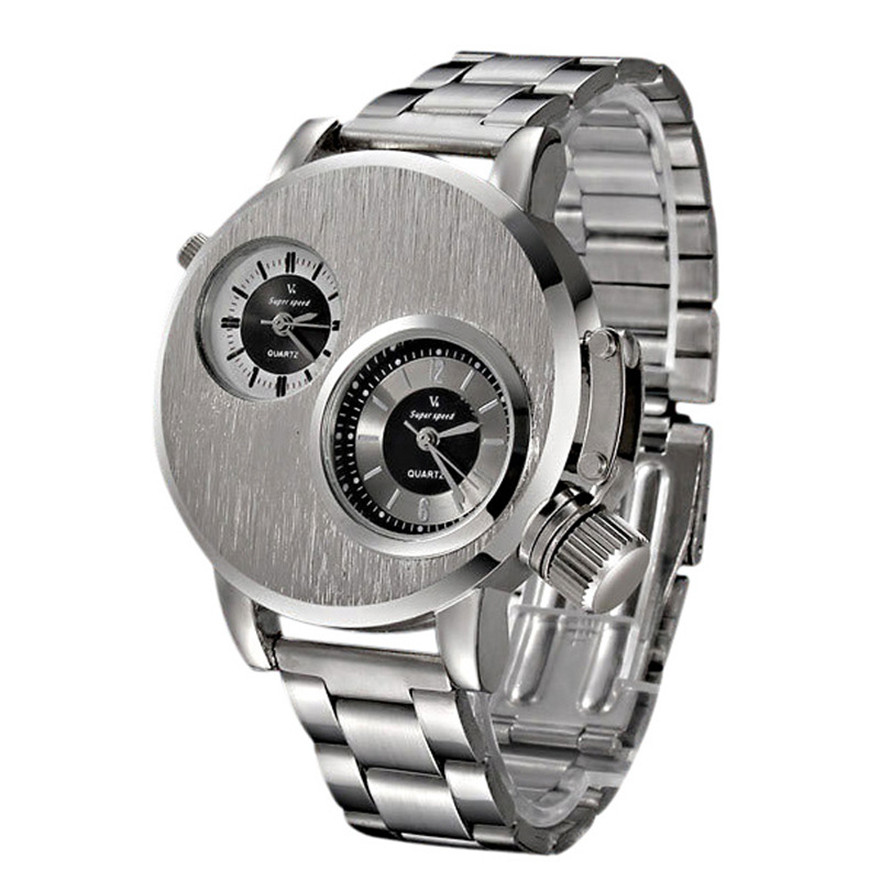 2018 Luxury Fashion Fashion New Mens Stainless Steel Date Military Sport Quartz Analog Wrist Watch Relogio Masculinoerkek saat