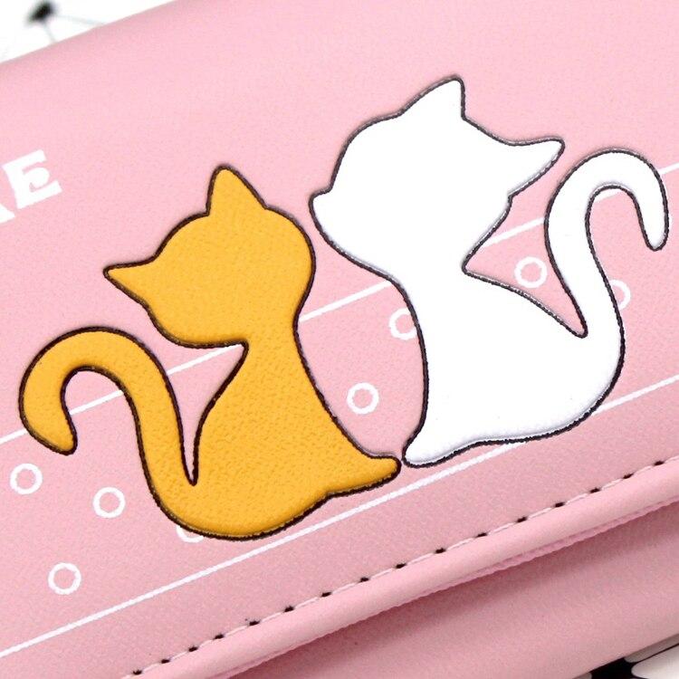 Katze los Brieftasche 250 Luxus Karte Mode Brieftaschen Mädchen Kurze Leder Weibliche Frauen Nette Halter Pu Kupplung Marke Teile Geldbörse Design 54xqxrX7