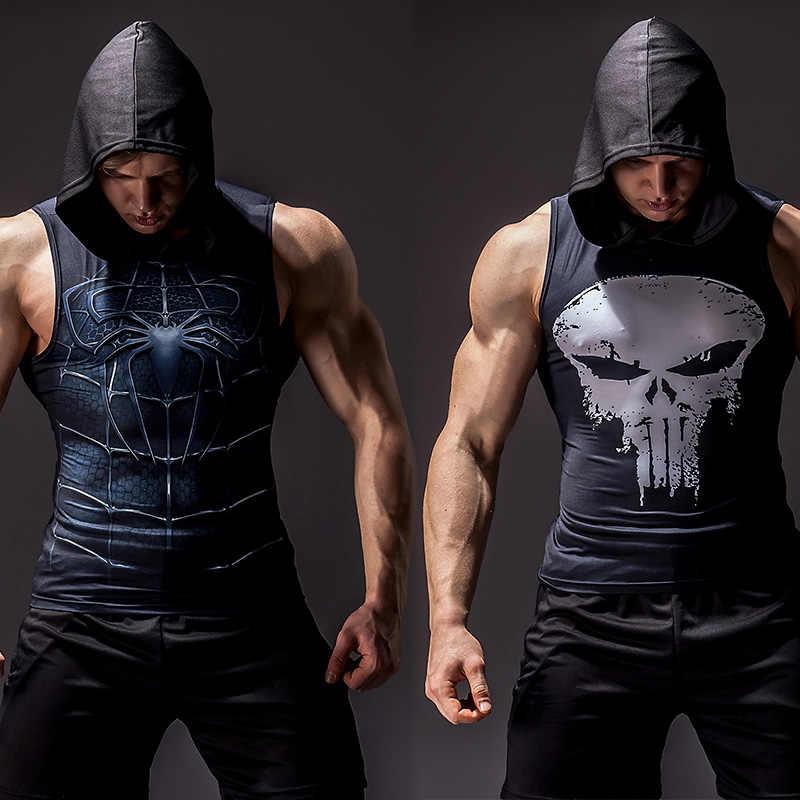 슈퍼 히어로 망토 3D printing 보디 빌딩을 스트링거 조 (top men (High) 저 (elasticity 피트니스 vest 근 27000원 씩 주고 민소매 hoodies vest