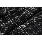 Runway Designer Winter Tweed Wolle Jacken und Mäntel Frauen 2019 Mode Neue Flare Hülse Lange Plaid Wolle Mantel Oberbekleidung - 5