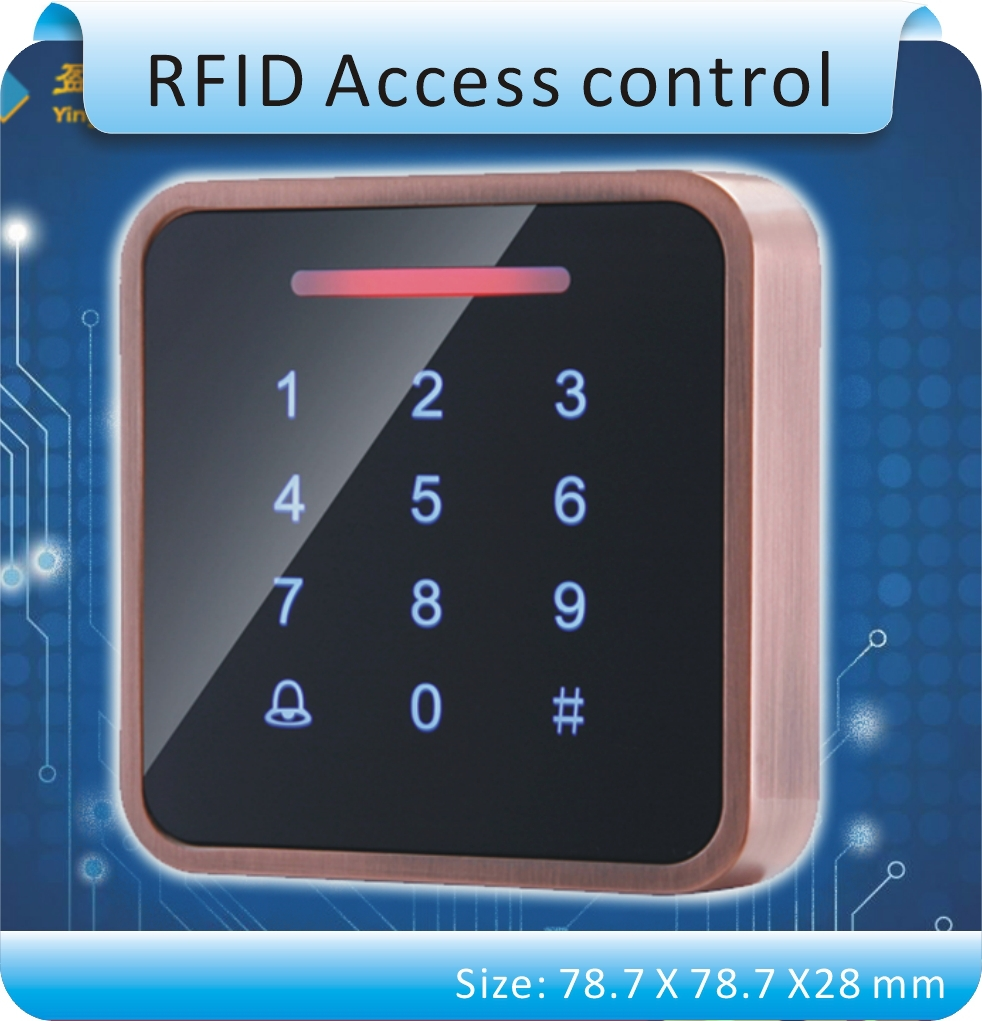 Free shipping Newest design Metal case Touch keys 125KHZ RFID +password access control system/ free send 10pcs cards