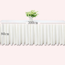 White ice silk wedding table skirt for champagne and cake decoration hotel banquet skirting pink