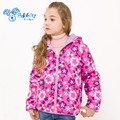 Girls Winter Warm Coat Children Autumn Down Jacket Double Side Wear Female Hooded Down Parkas Outerwear Clothes V-0079