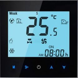 Touchscreen Colourful Programmable Room Thermostat for on&off Control of GasBoiler dry contact (without wifi function)