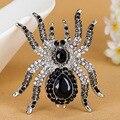 Marca de lujo de gran araña Broches de moda joyería Steampunk Colar femeninos vintage aborda mejor fiesta Broch de Broches reloj Vaz