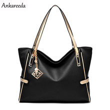 Ankareeda All Seasons Embossed Luxury Leather Women Bags Famous Brand PU Leather Handbags Ladies Casual Shoulder Crossbody Bags