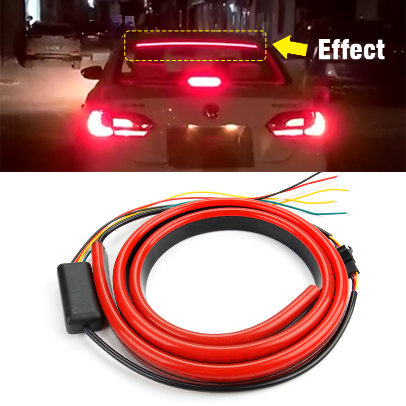 18 LED Red Waterproof SUV Tail Third Brake Stop Light for Universal Car
