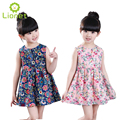Girl Clothes Summer Cool Sleeve Girls Dresses Printing Flower Kids Dress Children Wedding Party Princess Dresses For Girls 2-8Y