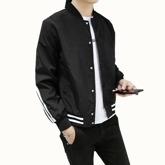 buy online bcd52 29d35 Herren Bomber Jacke Mens Casual Street Hip Hop Slim Fit Pilot Mantel männer  Große Größe Einfarbig Gerade jacke 4XL