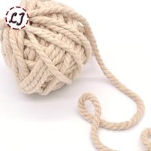 7 мм 5yd/лот Высокая прочность ручной работы дома DIY веревка хлопок шнуры для домашней одежды аксессуары ремесленных проектов