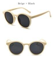 Nueva Ronda Wo los hombres Gafas de sol de diseñador de la marca Rosa Beige  damas 30e0ec4bada3