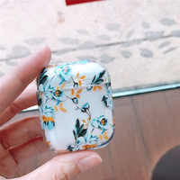 Bluetooth headset cover for apple airpods case flower cover for wireless headphone flamingo hard PC earphone charging box sport