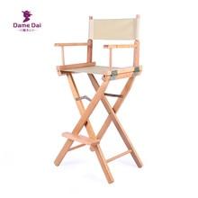 Director-Chair Garden Furniture Folding Portable Wood with Cavans Frame Bar Height Natural/black