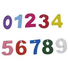 100 шт Смешанные Окрашенные деревянные поделки цифры цифровой дисплей деревянные кнопки для искусства Ремесла украшения для вечеринки сделанные своими руками 2,0 см