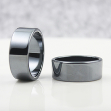 Fashion Jewelry Grade AAA Quality smooth 10 mm Width Flat Hematite Rings (50 Pieces Mixed sizes ) HR1009-1