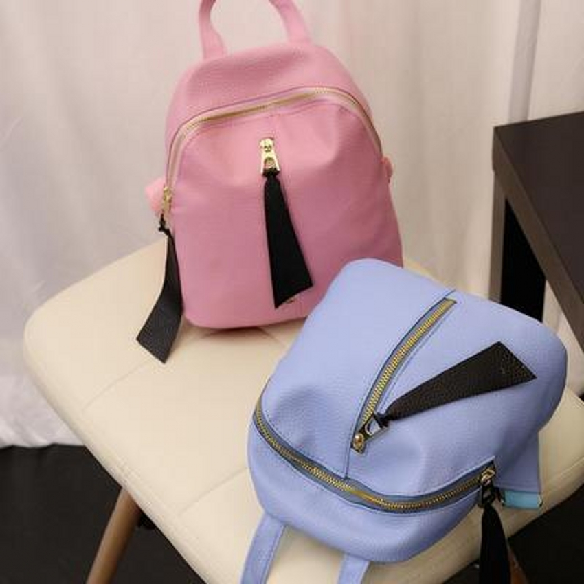 2018 G31 45 new embossed middle vertical zipper font b backpack b font leisure fashion travel