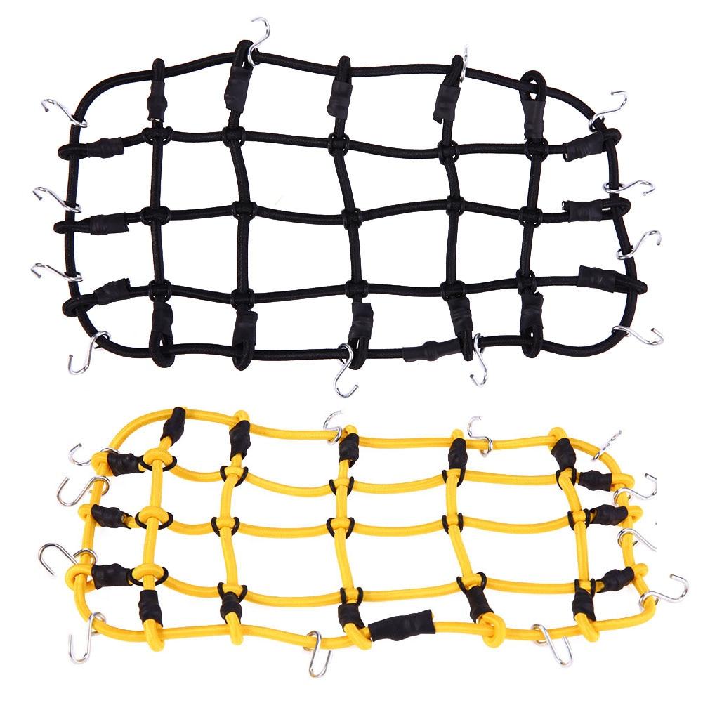 Luggage Net 1:10 RC Rock Crawler Elastic Luggage Net for Axial SCX10 90046 Tamiya CC01 RC4WD D90 D110 Trax RC Rock Car Accesory injora 2pcs 90mm metal shock absorber for 1 10 rc crawler axial scx10 rc4wd d90 tamiya cc01