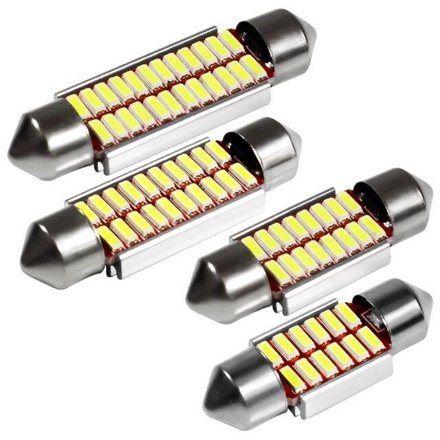 Гирлянда 31 мм 36 мм 39 мм 42 мм Светодиодная лампа C5W C10W супер яркий 4014 SMD Canbus ОШИБОК авто Интерьер Doom лампы стайлинга автомобилей свет