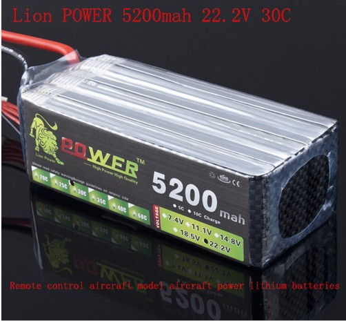 LI-ON Power 22.2V 5200mah Rechargeable 6s violence lithium battey  Remote control aircraft model aircraft ship Li-ion batteries