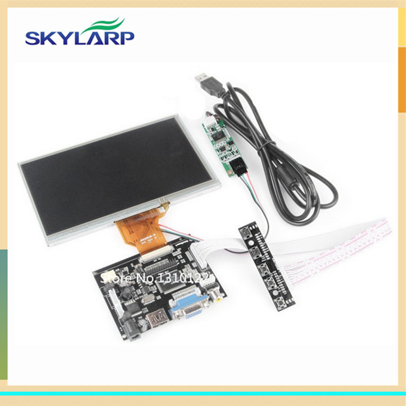 skylarpu 7 inch LCD Display with Touch Screen TFT Monitor for AT070TN90 HDMI VGA Input Driver Board Controller for Raspberry Pi 10pcs 7 inch lcd display monitor 800 480 for raspberry pi driver board hdmi vga 2av size 165 100mm
